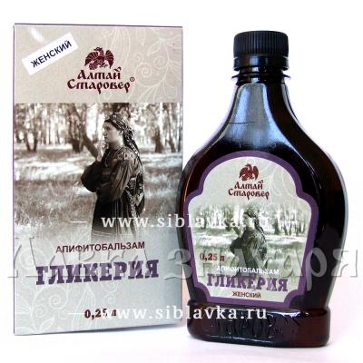Алтайский бальзам для женщин «Гликерия»