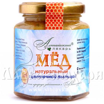 Мед натуральный с цветочной пыльцой