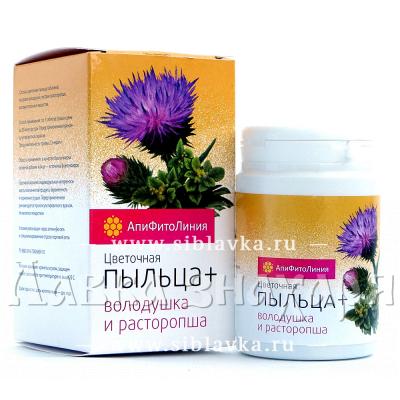 Апифитокомплекс «Пыльца + Володушка + Расторопша» для желудка и печени