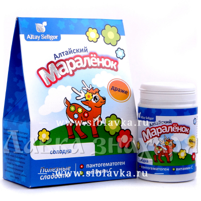 Купить Драже «Алтайский мараленок» с солодкой