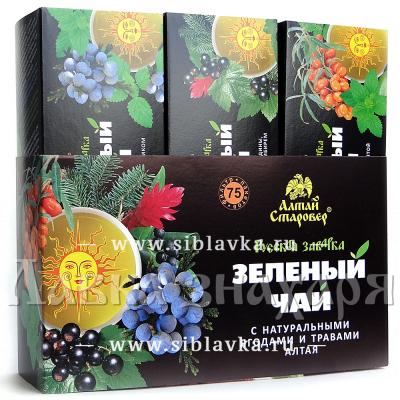 Подарочный набор «Русская заварка» зеленый чай с алтайскими травами