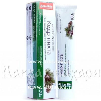 Купить Зубная паста «Кедр-Пихта» профилактика пародонтоза