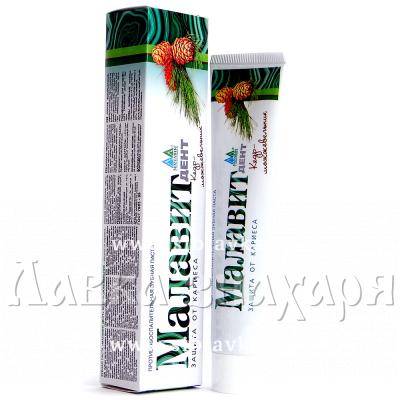 Купить Зубная паста «Малавит Дент» Кедр-Можжевельник защита от кариеса