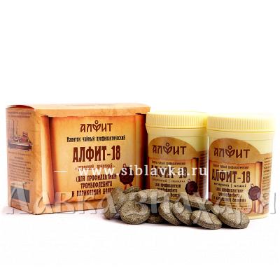 Купить Сбор трав «Алфит-18» при тромбофлебите и варикозной болезни вен